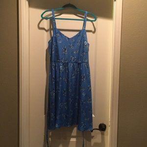 Ann Taylor Loft blue summer dress